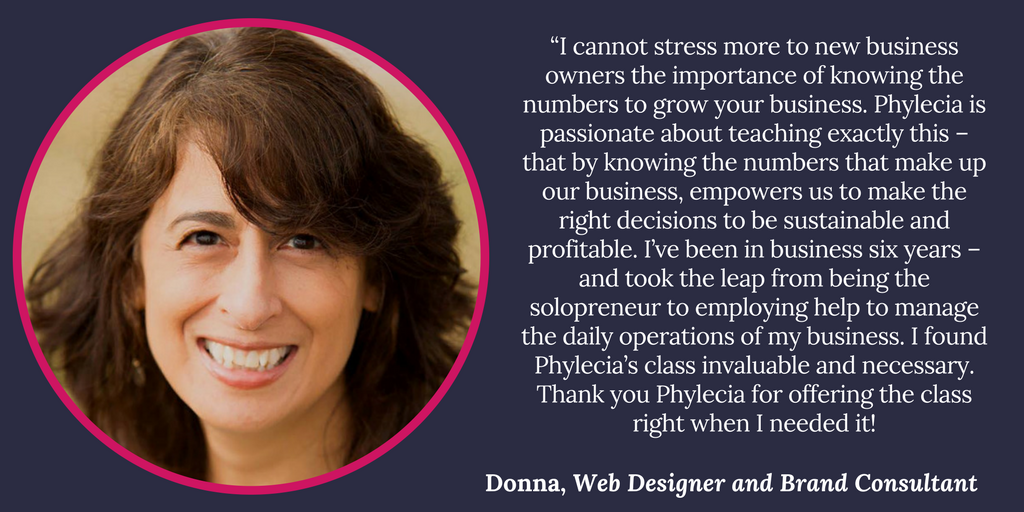 Donna, Web Designer and Brand Consultant, Testimonial